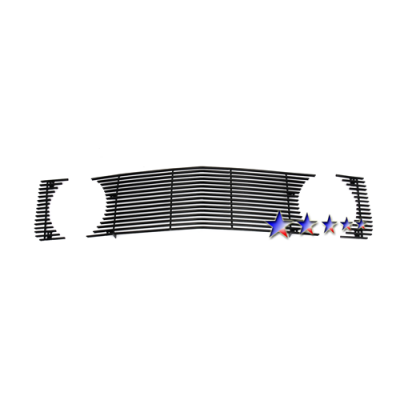 APS Black Billet Aluminum Upper Grille without Pony opening 2005-2009 Mustang GT/CS