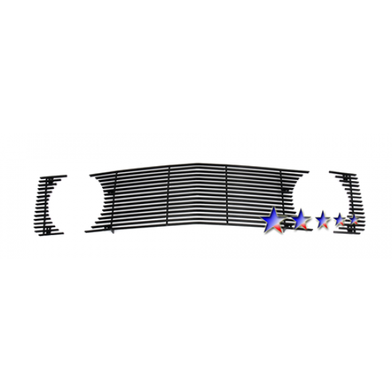 1-APS Black Billet Aluminum Upper Grille without Pony opening 2005-2009 Mustang GT/CS