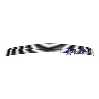 1-APS Black Billet Aluminum Lower Bumper Grille 2005-2009 Mustang GT
