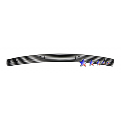 1-APS Black Billet Aluminum Lower Bumper Grille 2005-2009 Mustang V6