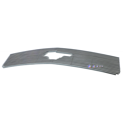 1-APS Polished Billet Aluminum Grille with Pony opening 2005-2009 Mustang V6 without Pony-Pak