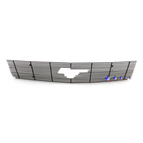 1-APS Black Billet Aluminum Upper Grille with Pony opening 2005-2009 Mustang V6