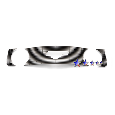 APS Polished Billet Aluminum Upper Grille with Pony opening 2005-2009 Mustang GT/CS