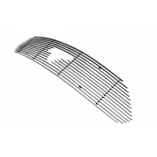 1-APS 3pcs Polished Billet Aluminum Upper Grille with Pony cut-out 2018-2020 Mustang GT