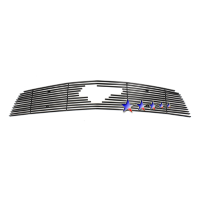 APS Black Billet Aluminum Upper Grille with Pony cut-out 2010-2012 Mustang V6