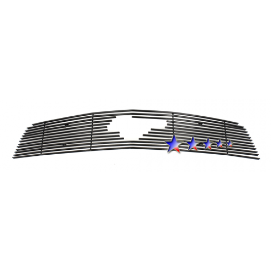 1-APS Black Billet Aluminum Upper Grille with Pony cut-out 2010-2012 Mustang V6