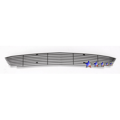 1-APS Black Billet Aluminum Lower Bumpert Grille 2010-2012 Mustang V6