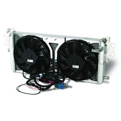 Afoc Pro-Series double pass heat exchanger and dual fans for Mustang 2007-2012 Shelby GT500