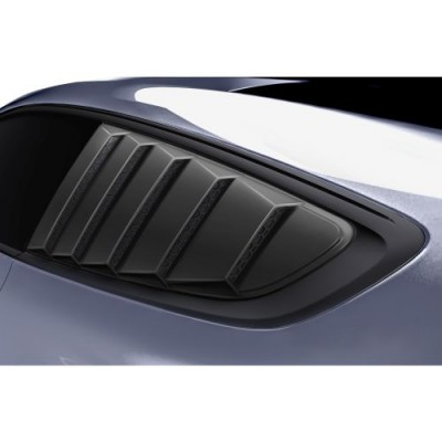 Air Design Side Window Louvers Satin Black 2015-2019 Mustang