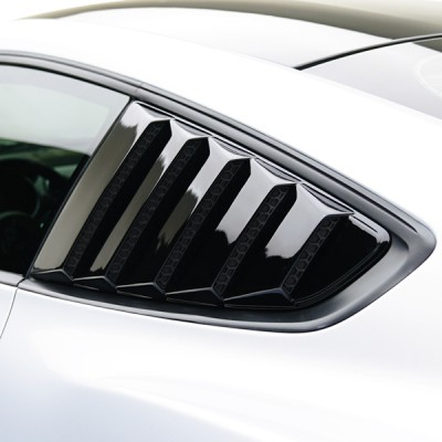 Air Design Side Window Louver Gloss Black 2015-2019 Mustang