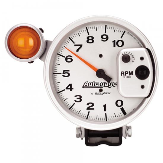 Autometer Auto gauge tach shift-lite argent