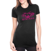 BRC Ladies Ford Mustang modern grille tee with hot pink print