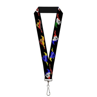 BD Lanyard Mustang black international flags