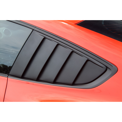 Cervinis Quarter Window Louvers Matte Black 2015-2020 Mustang Fastback
