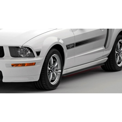 Classic design concept Rocker side skirt splitter Mustang 2005-2014