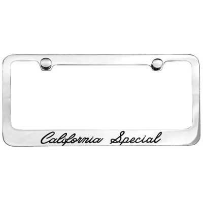 Chrome License Plate Frame with California Special logo