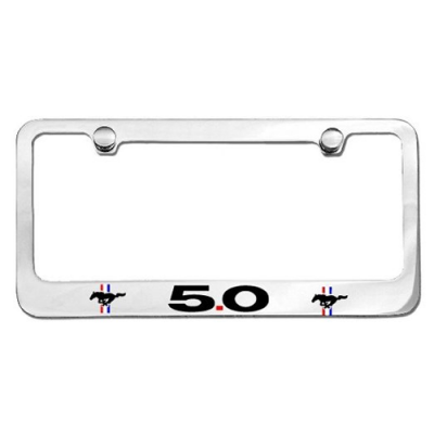 Chrome License Plate Frame with 5.0 logo