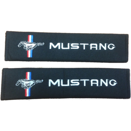 Pad de ceinture de sécurité logo Mustang