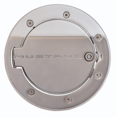 Defenderworx Logo Mustang porte d'essence chromé avec barrure Mustang 2010-2014