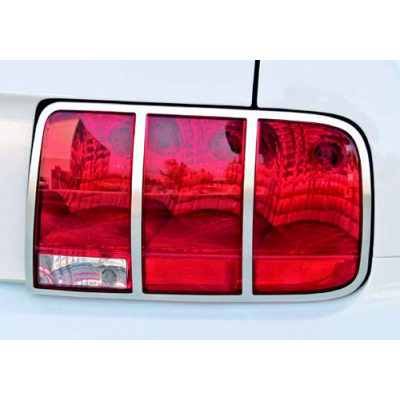 Drake Satin AluminumTail Light Trim 2005-2009 Mustang