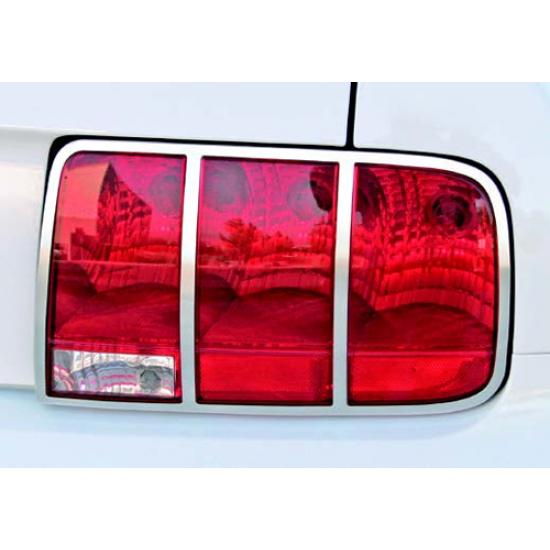 Drake contour de lumière arrière aluminium poli Mustang 2005-2009