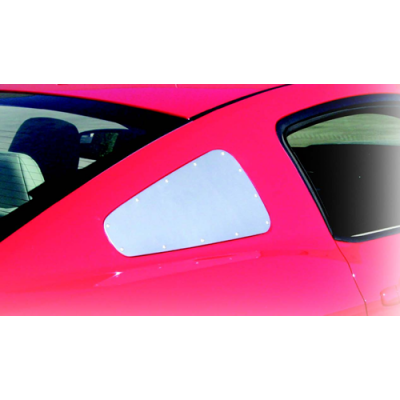 Drake Satin Aluminum Quarter Window Covers 2010-2014 Mustang