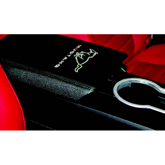 Drake Arm Rest Cover with Pony logo 2005-2009 Mustang