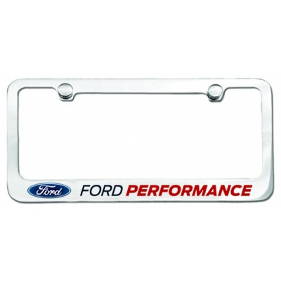 Contour de Plaque Chromé avec logo Ford Performance