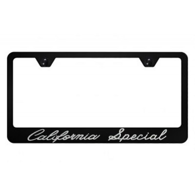 Black Metal License Plate Frame with California Special logo