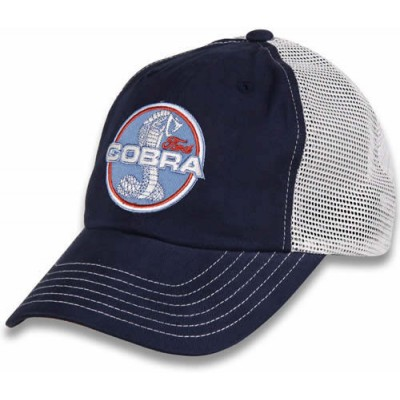 COBRA Cap  Blue with  Beige mesh back