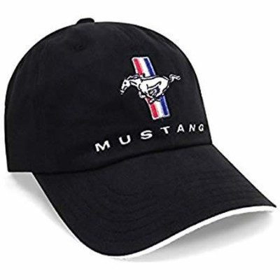 MUSTANG Cap Pony + Bars Black