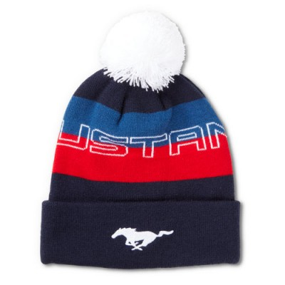 Ford Collection Tuque Mustang Noir/Rouge/Bleu/Blanc