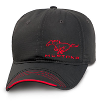 Ford Collection Casquette Mustang gris et rouge