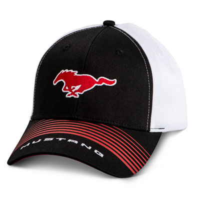Cap Mustang Red + Black