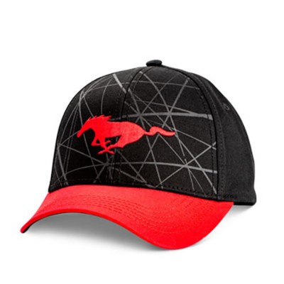 FC Black & Red Mustang Cap