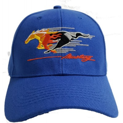 Childs Cap  Royal Blue with Flaming Pony