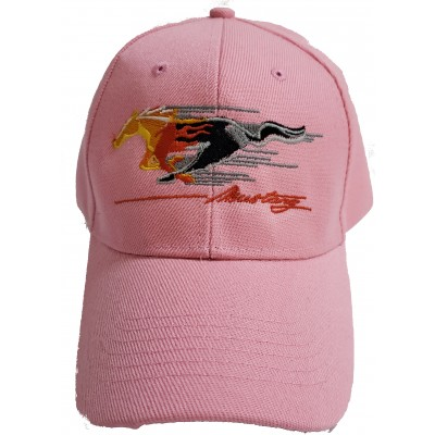 Childrens Pink Flamed Pony Mustang Cap