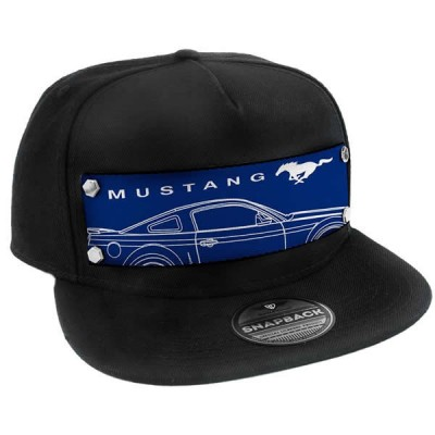 BD Mustang Cap Black with Blue Pony THBK-FCS-FMAU
