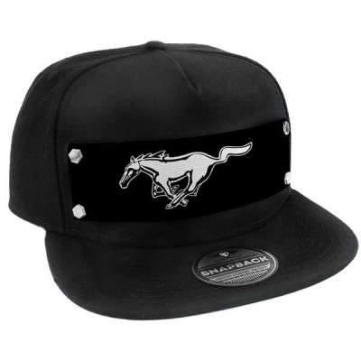 BD Mustang Cap Black with White Pony THBK-FCS-FMAV