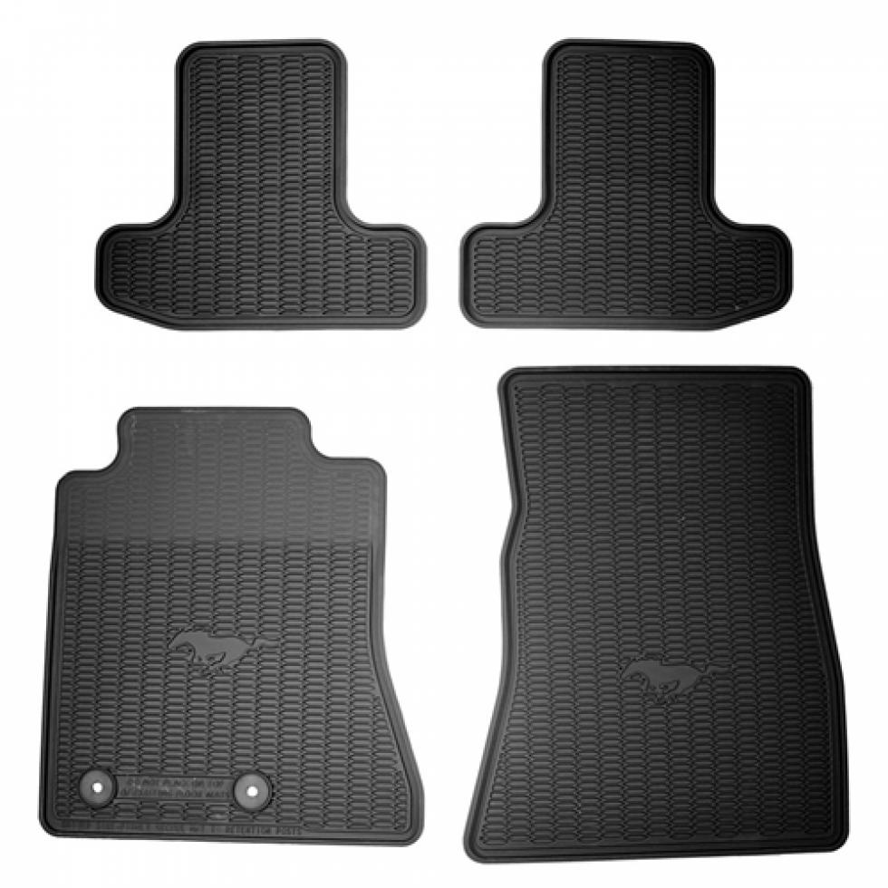 ford floor mat black rubber mustang 2015 2016 f fr3z. Black Bedroom Furniture Sets. Home Design Ideas