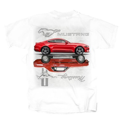 Men's White Mustang Reflection T-Shirt 1964-2020