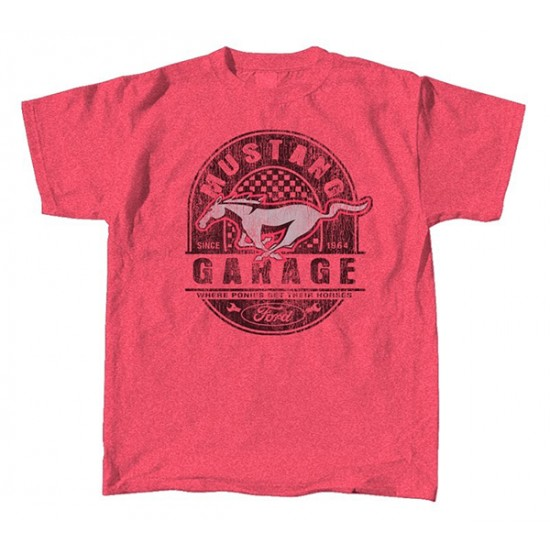 T-Shirt homme Mustang Garage rouge