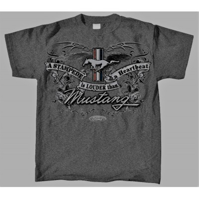 T-Shirt Homme A Stampede is louder than a Heartbeat Mustang