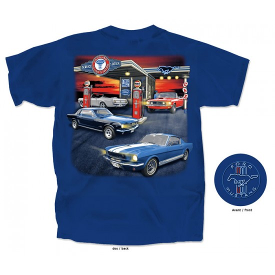 T-Shirt Homme Collection Mustang 1965-1966