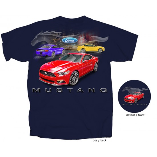 T-Shirt Homme Ford Mustang 2015-2017