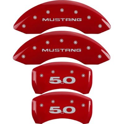 MGP Red caliper covers Mustang - 5.0 logo Mustang 2015-2020