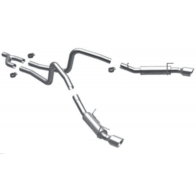 Magnaflow Cat back dual split rear exit Mustang 2010 V6
