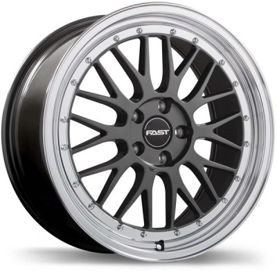 Fast Victory 20'' x 9.5'' Gunmetal with Polished Lip 2005-2019 Mustang GT/V6/EcoBoost + 2007-2012 GT500 rear