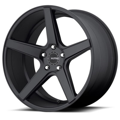 KMC Mag District 20''x 10.5'' +35mm Noir Satiné Mustang GT/V6/EcoBoost/GT500 2005-2019 arriere.