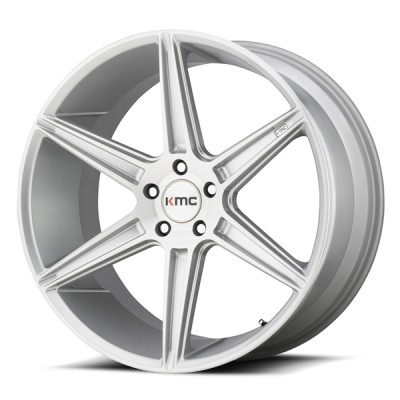 KMC Mag PRISM Brished Silver 20'' x 10.5'' 2005-2019 Mustang GT/V6/EcoBoost/GT350/GT500 arriere